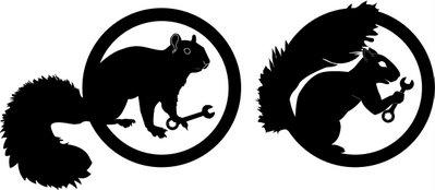 Black squirrel logo